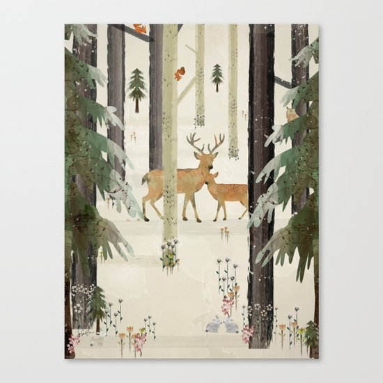 nature's way the deer Canvas Print
