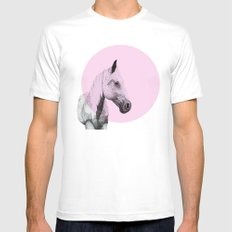 speckled horse White MEDIUM Mens Fitted Tee