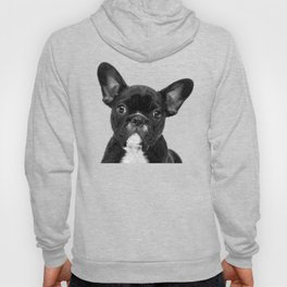 Black and White French Bulldog Hoody