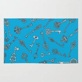 Skeleton Keys Blue Rug