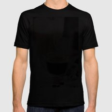 Coffee with heart Black MEDIUM Mens Fitted Tee