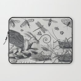 Grasshoppers and fantasia with wings and webbed feet - Nicolaes de Bruyn (1594) Laptop Sleeve