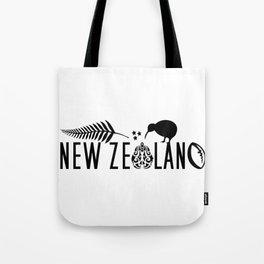 New Zealand Icons - Maori Kiwi Fern Rugby Tote Bag