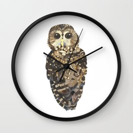 Northern Spotted Owl. Wall Clock