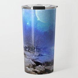 Fantasy Landscape, Moon Stars Travel Mug