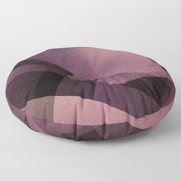 Edgy Pastel Pink - Digital Geometric Texture Floor Pillow