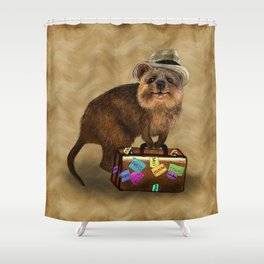 Traveller // quokka Shower Curtain