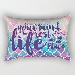 Correct Your Mind Rectangular Pillow