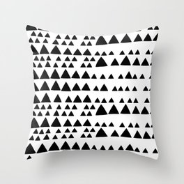 Black and White Triangle Throw Pillow