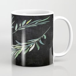 Eucalyptus leaves on chalkboard Coffee Mug