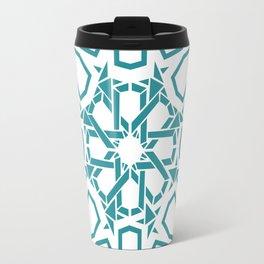 Moroccan Mosaic Blue Travel Mug
