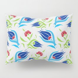 Turkish tulip pattern 7 Pillow Sham