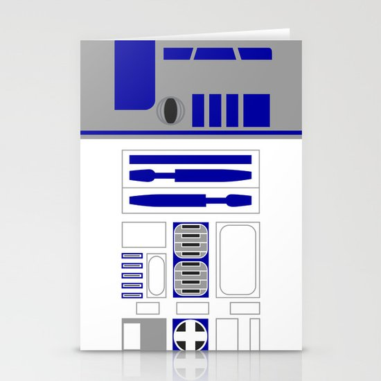 Star Wars R2D2 Vector Stationery Cards