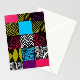 Colour block bright Stationery Cards