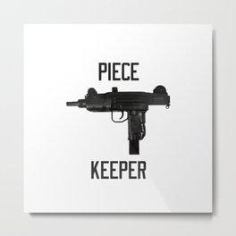 Uzi Piece Keeper Metal Print