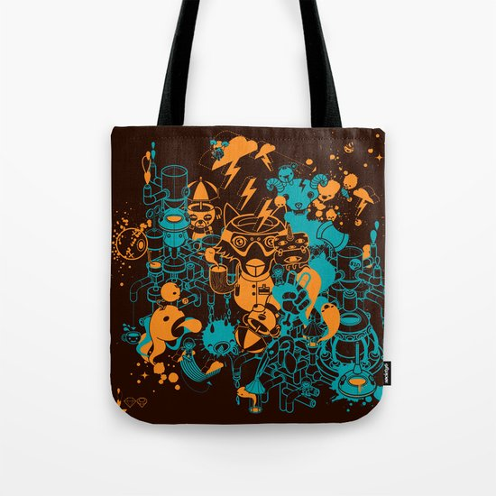 Dream Factory Orange and Blue Tote Bag