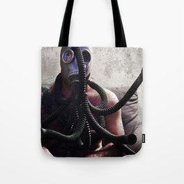 Gas Mask Medusa Tote Bag