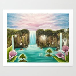 Hidden Oasis Art Print