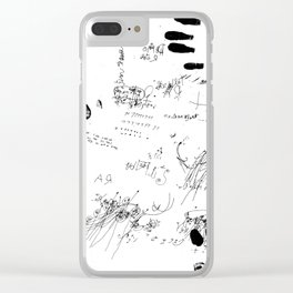 Night drawings Clear iPhone Case