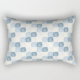 Bohemian Sandcastles- Random: blues & cream, gray Rectangular Pillow