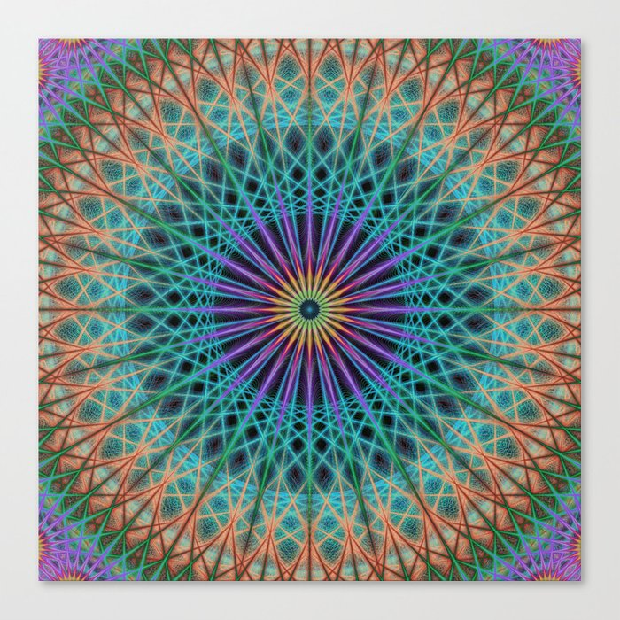 Round fantasy structure Canvas Print