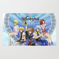 kingdom hearts Area & Throw Rugs featuring Kingdom Hearts by clayscence