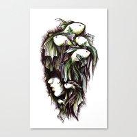 life aquatic Canvas Prints featuring Aquatic by Emma Lettera