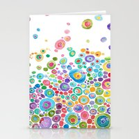 Stationery Cards featuring Inner Circle - white by Catherine Holcombe