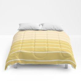 Two Tone Stripes - Yellow Comforters