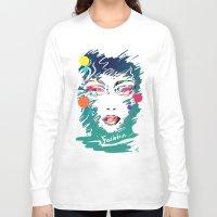 make up Long Sleeve T-shirts featuring Make Up by Irmak Akcadogan