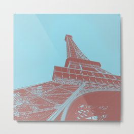 Eiffel Tower Color Pop Metal Print