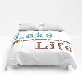 Lake Life - Summer Camp Camping Holiday Vacation Gift Comforters