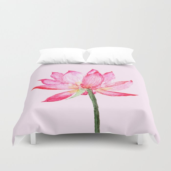 Pink Lotus Flower Duvet Cover By Colorandcolor Society6