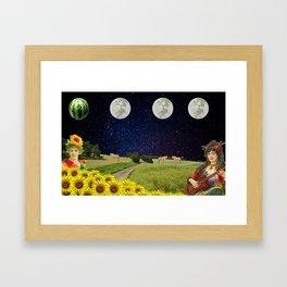 Watermelon Moon Framed Art Print