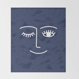Wink / Navy Throw Blanket