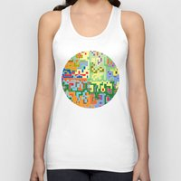 world maps Tank Tops featuring Maps by Tony Vazquez