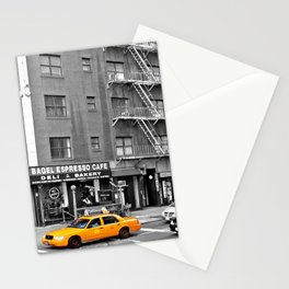 NYC - Yellow Cabs - Bagel Cafe Stationery Cards
