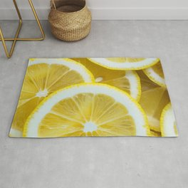 Yellow Watercolor Lemon Rug