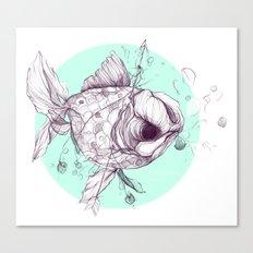 We'll Hide Beneath Blankets; Under Waves Canvas Print