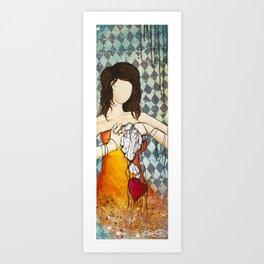 Popped Heart Strings Art Print