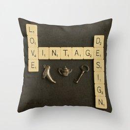 Love Vintage Design Throw Pillow