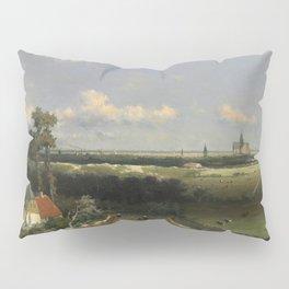 View Of Haarlem 1848 By Johan Hendrik Weissenbruch | Reproduction Pillow Sham