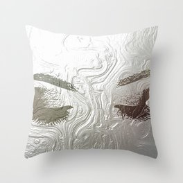 Silver and lashed glam Throw Pillow