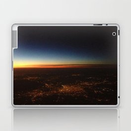 Sunset from a Plane's View Laptop & iPad Skin