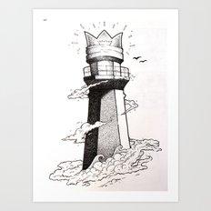 lighthouse found Art Print