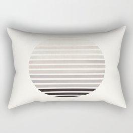Grey Mid Century Modern Minimalist Scandinavian Colorful Stripes Geometric Pattern Round Circle Fram Rectangular Pillow