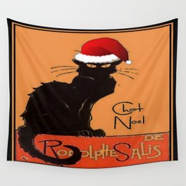 Le Chat Noel Wall Tapestry