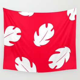 Lilo Hawaiian Floral Leaves Wall Tapestry