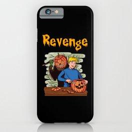 Revenge Revenge Of The Halloween Pumpkin. Vintage iPhone Case