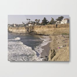 No Surf Beach at Sunset Cliffs in San Diego Metal Print